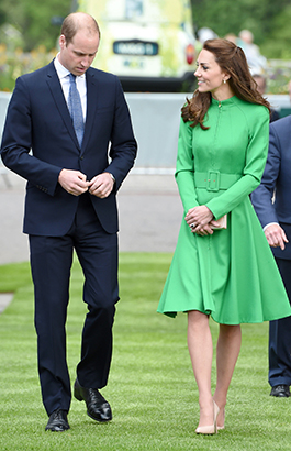 The Duke and Duchess of Cambridge attend the Chelsea Flower Show