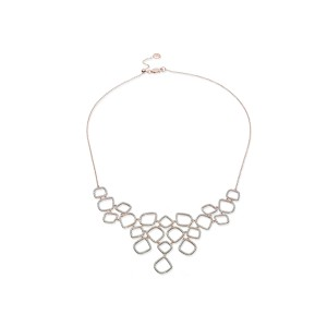 """Riva"" Diamond Cluster Bib Necklace"