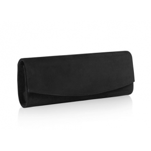 """Muse"" Black Suede Clutch"