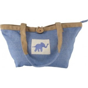 """Cristina"" Sea-Navy Elephant Bag"
