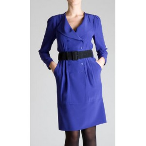 """Trina"" Blue Sheath Dress"