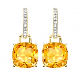 Eternity Citrine Cushions and Diamonds