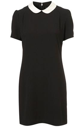 """Contrast Collar"" Sheath Dress"