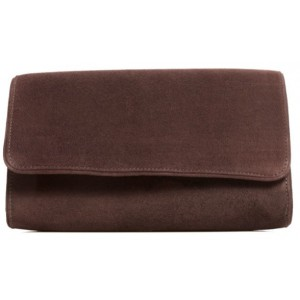 """Natasha"" Clutch in Chocolate"