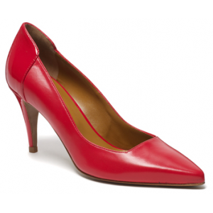 "Red ""Albini"" Square Cut Heels"