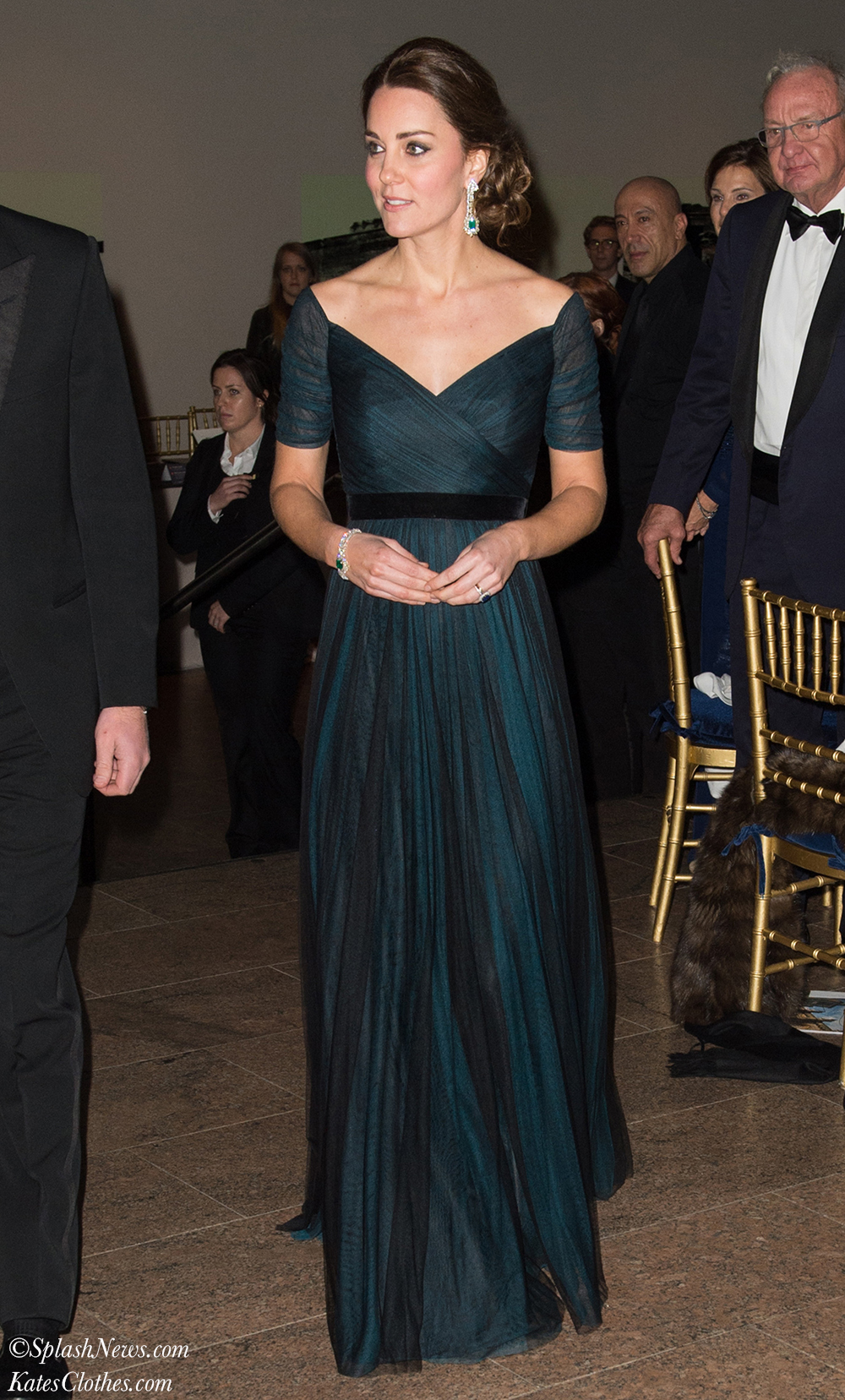 Kate\'s Clothes » Ink Blue Jenny Packham Evening Gown