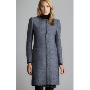 Blue Tweed Fringe Coat