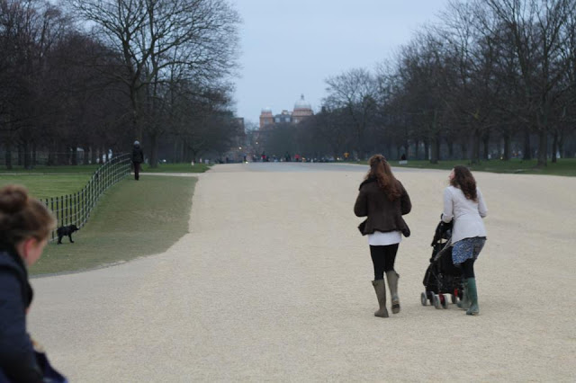 Walking in Hyde Park
