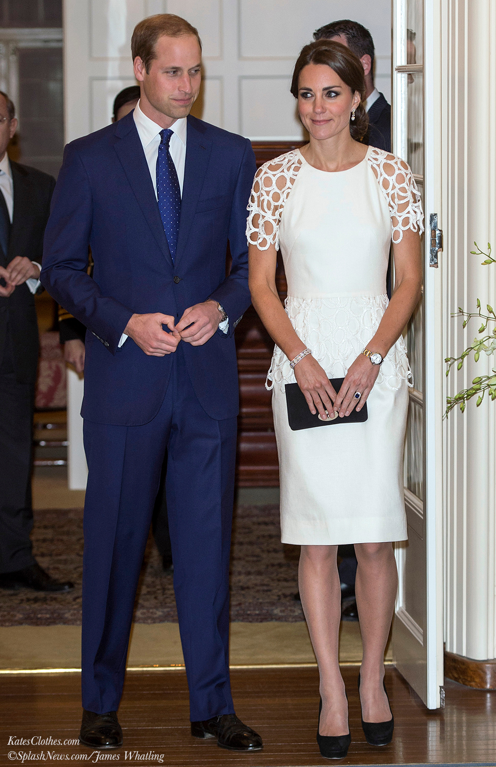 The Duke and Duchess attend a reception hosted by the Governor-General
