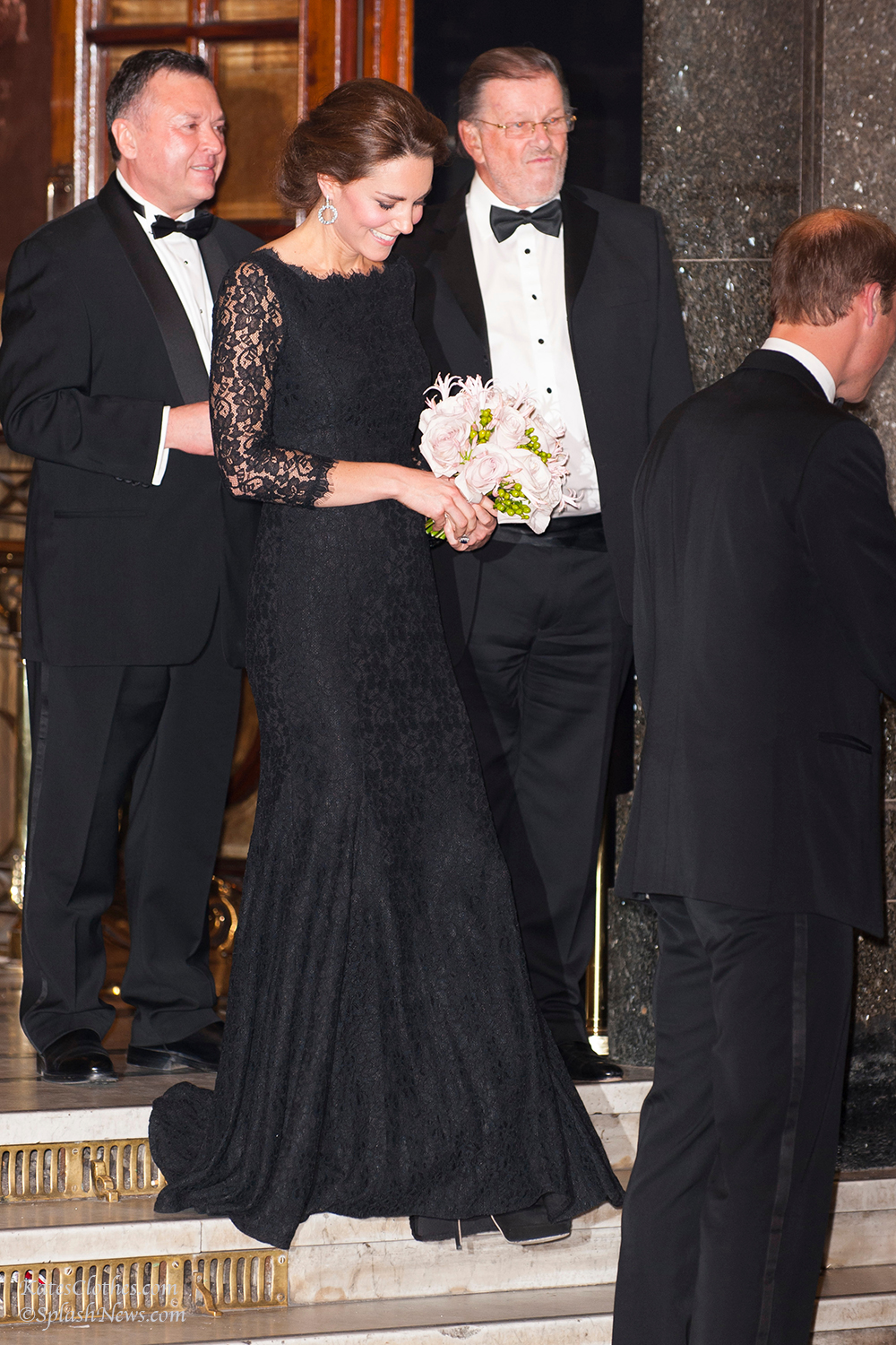 The Duke and Duchess of Cambridge leave the Royal Variety Performance