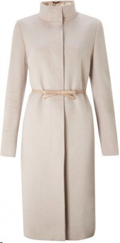 """Belli"" Funnel-Neck Pink Coat"