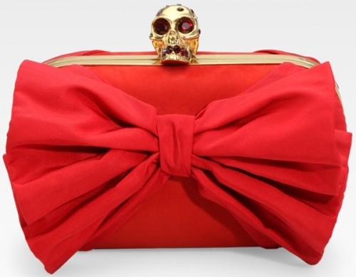 Modified Classic Bow Skull Clutch