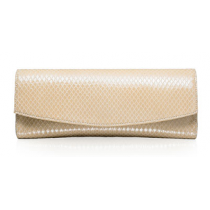 """Muse"" Clutch in Nude Snakeskin"