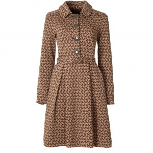 """Birdie"" Wool Jacquard Coat Dress"