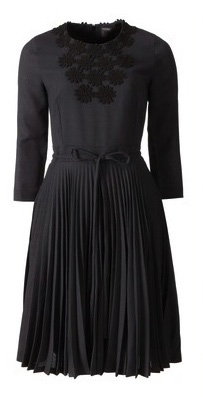 Pleated Grey Daisy Dress
