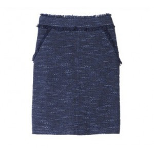 "Frayed ""Sparkle Tweed"" Skirt"