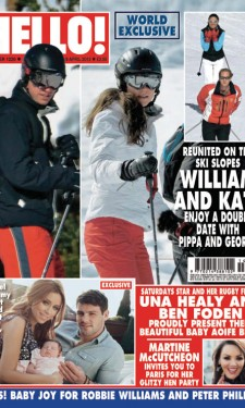 Skiing in France with the Middletons