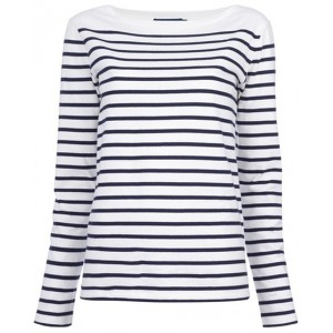 """Tori"" Breton Blue Label Top"