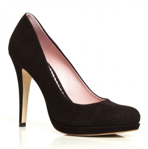 """""""Valerie"""" Pumps in Chocolate Suede"""