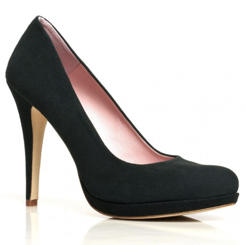 """Valerie"" Pumps in Carbon Suede"