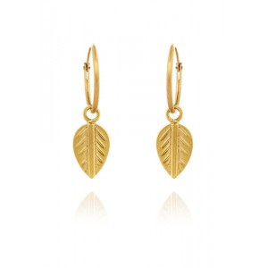 Logo Leaf Earrings