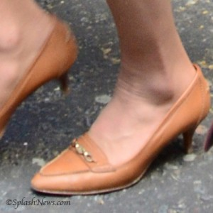 Caramel Colored Kitten Heel