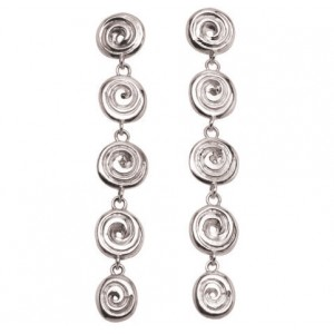 Ndoro Dangle Silver Earrings