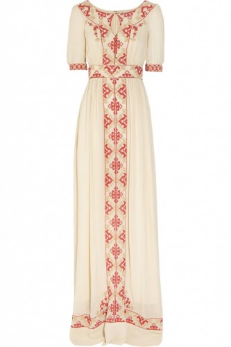 """Beatrice"" Embroidered Maxi Dress"