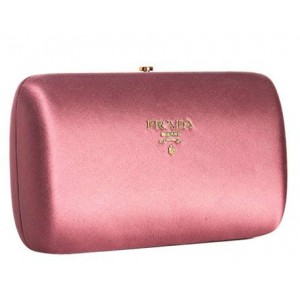 Satin Logo Box Clutch