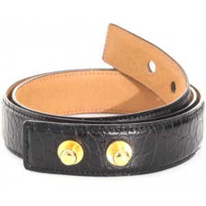Crocodile Embossed Waist Belt