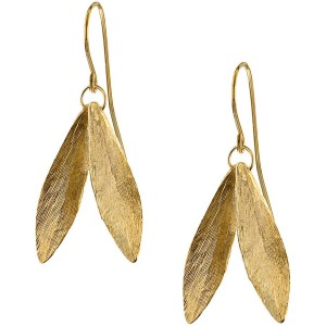 """Double Leaf"" Earrings"