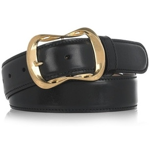 """Glossed"" Leather Belt in Suede"