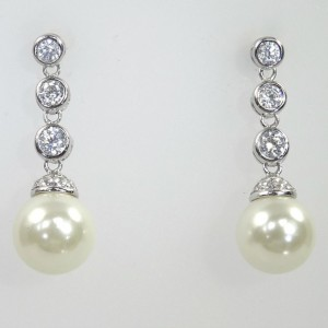 Faux Diamond & Pearl Drops