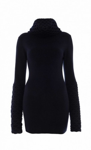 Honeycomb Jumper in Black