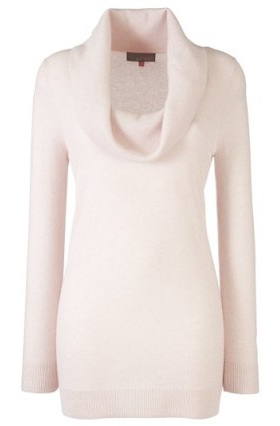 Pink Cowl-Neck Tunic Top