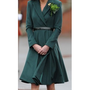 Flared Green Aldershot Coat