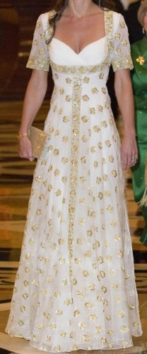 Bespoke Gold Hibiscus Gown