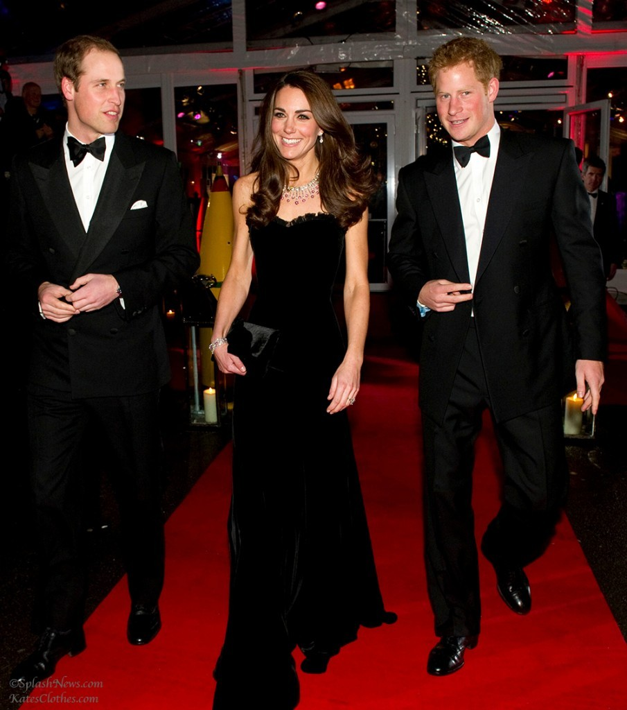 William, Harry and Kate at the Millies