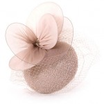 Nude Beaded Cocktail Hat