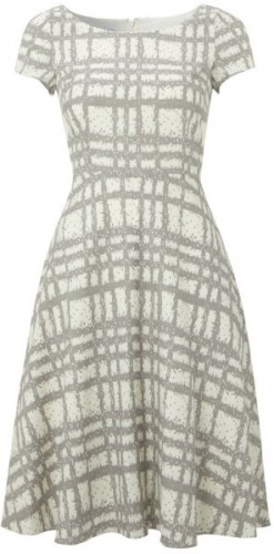 """Wessex"" Grey Checked Dress"