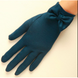 """Beatrice"" Pure Wool Bow Gloves"