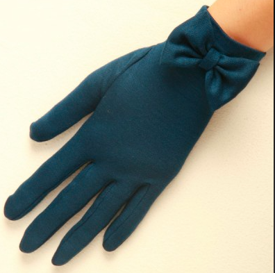 """""""Beatrice"""" Pure Wool Bow Gloves"""