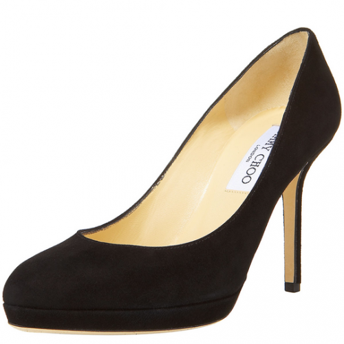 """Aimee"" Black Suede Pumps"