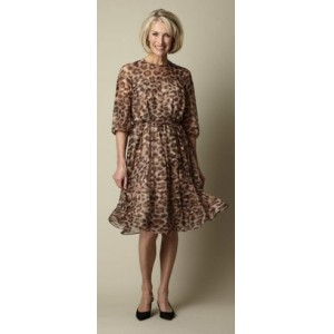 Leopard Print Silk Dress