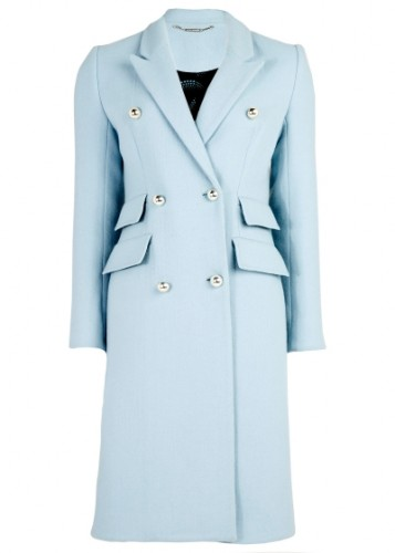Opal Wool Double-Breasted Coat