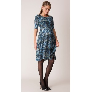 """Florrie"" Blue Floral Maternity Dress"