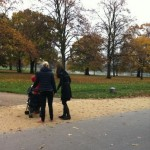 Kate and Lupo Walk in Kensington Gardens