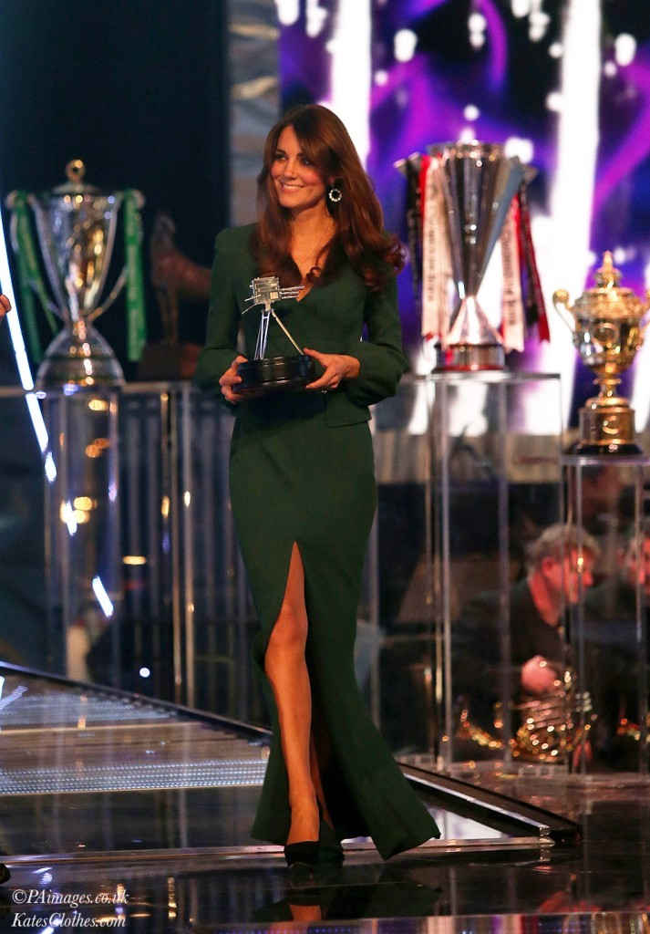 Presenting at the BBC Sport Awards