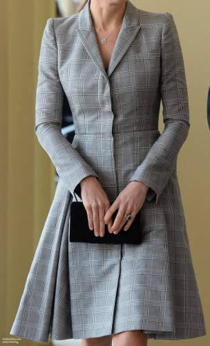 Grey Checkered Coat-Dress