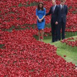 Placing Poppies at the Tower of London